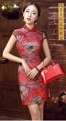 2017新款手提包女贝壳包斜挎女包大红色包包新女娘包结婚包包