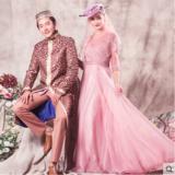 婚纱礼服 夏季新款回族巴服时尚影楼主题写真服装情侣