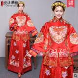 龙凤褂新款中式结婚礼服新娘敬酒服龙凤褂嫁衣秀和服