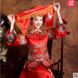 龙凤褂新娘结婚敬酒服中式改良复古旗袍龙凤褂嫁衣秀和服