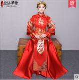 龙凤褂新款秀禾服中式结婚礼服复古新娘敬酒服红色嫁衣喜服秀和服