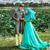 婚纱礼服 新款回族影楼主题服装情侣写真摄影艺术照服装