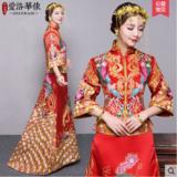 龙凤褂新款秀禾服新娘礼服嫁衣中式结婚秀和服小拖尾喜服褂裙