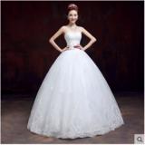 婚纱礼服 新款韩版时尚齐地抹胸新娘婚纱大码显瘦蕾丝春夏季钻