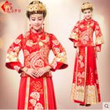 龙凤褂 新娘礼服中式结婚嫁衣喜服红色敬酒服旗袍